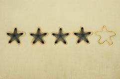 Notation quatre étoiles image libre de droits