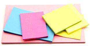 notatka barwiony papier Fotografia Stock