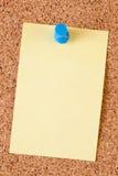 notatka deskowy korkowy papier Obraz Stock