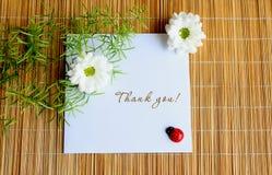 notatka dziękować ty fotografia stock