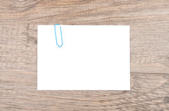 Notatka na drewnie Obraz Royalty Free
