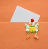 Notatka na pomarańczowym tle Zdjęcia Stock