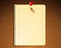 notatka papier Obraz Royalty Free