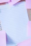 Notatka papier na drewnianej desce Fotografia Royalty Free