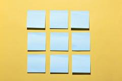 Notatka papiery Fotografia Stock
