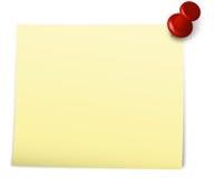 notatka przyczepiająca Obrazy Stock