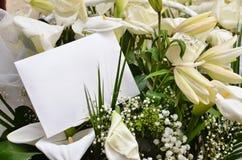 Notatka w kwiatach obraz royalty free