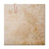 Notatka z klamerką, ścinek ścieżka Fotografia Royalty Free