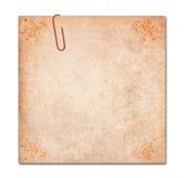 Notatka z klamerką odizolowywającą, ścinek ścieżka Obrazy Royalty Free