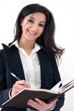 notatki biznesowa robi kobieta obraz royalty free