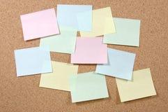 notatki kolorowa pocztę obraz stock