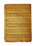 notatki muzykalna strona Fotografia Royalty Free