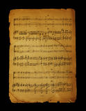 notatki muzykalna strona Fotografia Stock