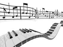 notatki muzykalne Obrazy Royalty Free