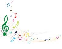 notatki muzykalne Fotografia Stock