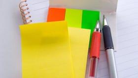 notatki notepad długopis. Zdjęcie Royalty Free