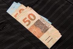 Notatki real, Brazylijska waluta brazil pieniądze Obraz Royalty Free