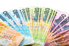 Notatki w Nowa Zelandia walucie Fotografia Stock
