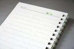 notatnik Zdjęcie Royalty Free