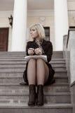 notatnik biznesowa kobieta Zdjęcia Royalty Free