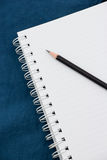 Notatnik i ołówek zdjęcie stock