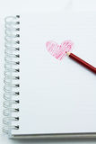 Notatnik i ołówek zdjęcie royalty free