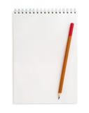 Notatnik i ołówek obrazy stock