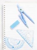 Notatnik i ołówek odizolowywający Obraz Stock