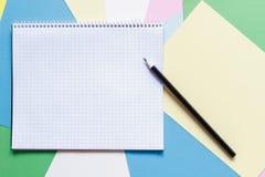 Notatnik i ołówek obrazy royalty free
