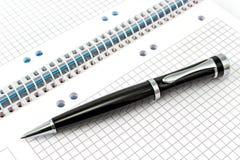 Notatnik i pióro Obrazy Stock