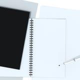 Notatnik odizolowywa z ścinek ścieżką Zdjęcia Stock
