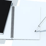 Notatnik odizolowywa z ścinek ścieżką Obraz Royalty Free