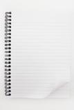 Notatnik odizolowywający na białym tle Fotografia Stock