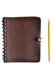 notatnik okładkowy rzemienny notatnik Obraz Stock