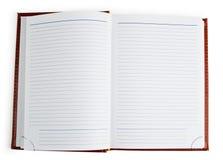 notatnik otwarty Obraz Stock