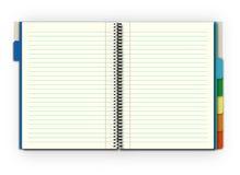 notatnik otwarty Obrazy Royalty Free