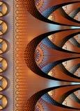 Notatnik pokrywa z pięknym wzorem w fractal projekcie Zdjęcie Stock
