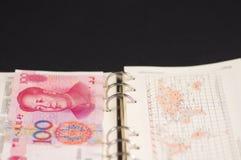 notatnik rmb100yuan Fotografia Stock