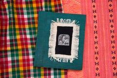 Notatnik tkanina zdjęcie royalty free