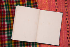 Notatnik tkanina tajlandzka fotografia royalty free