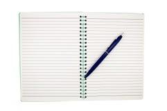 Notatnik z piórem Zdjęcie Royalty Free
