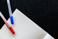 Notatnika i piór tło Fotografia Stock