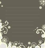 notatnika kwiecisty szablon Obraz Royalty Free
