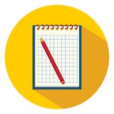 notatnika notatek pióro również zwrócić corel ilustracji wektora ilustracji