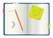 notatnika notepad ołówek Zdjęcia Royalty Free