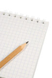 notatnika ołówek Zdjęcia Stock