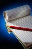 notatnika ołówek zdjęcie royalty free