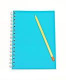 notatnika ołówek Obraz Royalty Free