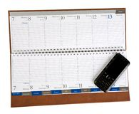 notatnika odosobniony mobilny telefon Fotografia Stock
