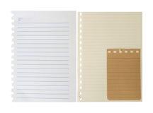 Notatnika papier Fotografia Stock